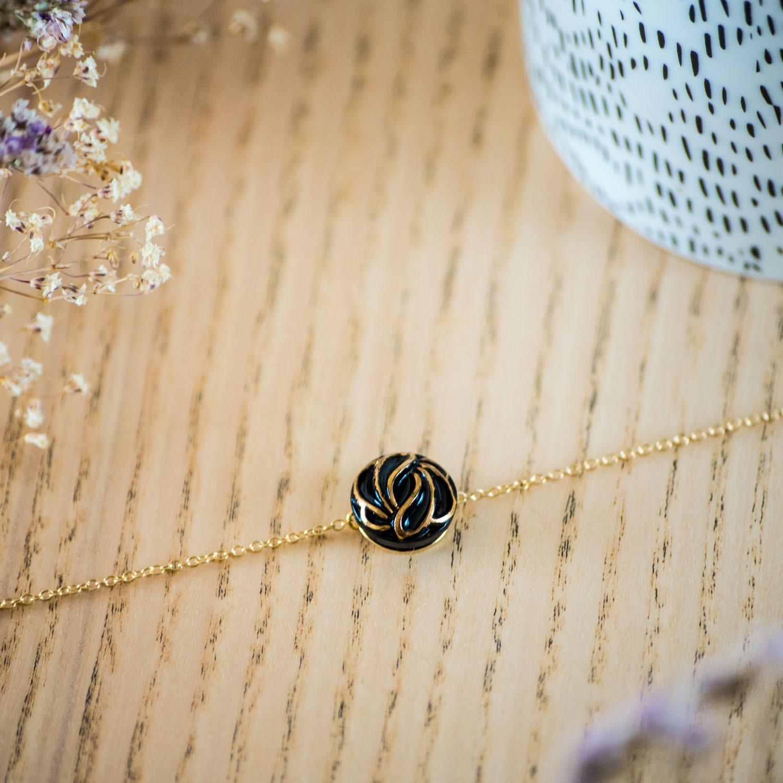 Assuna – Bracelet simple chaîne Andrée or – inspiration vintage