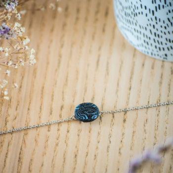Bracelet simple chaîne Garance bleu