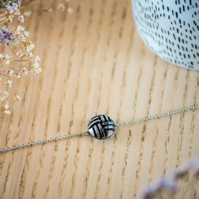 Assuna - Bracelet simple chaîne Henriette argenté - inspiration vintage