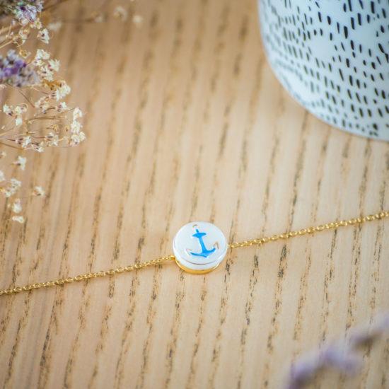 Assuna - Bracelet simple chaîne Marine - inspiration vintage