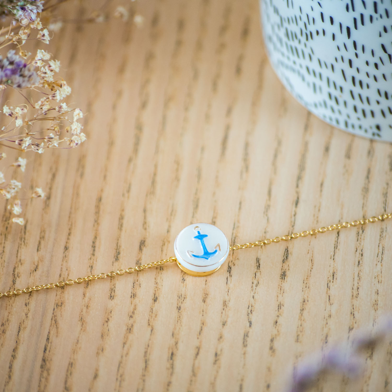 Bracelet simple chaîne Marine