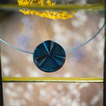 Collier solo vintage Angèle bleu