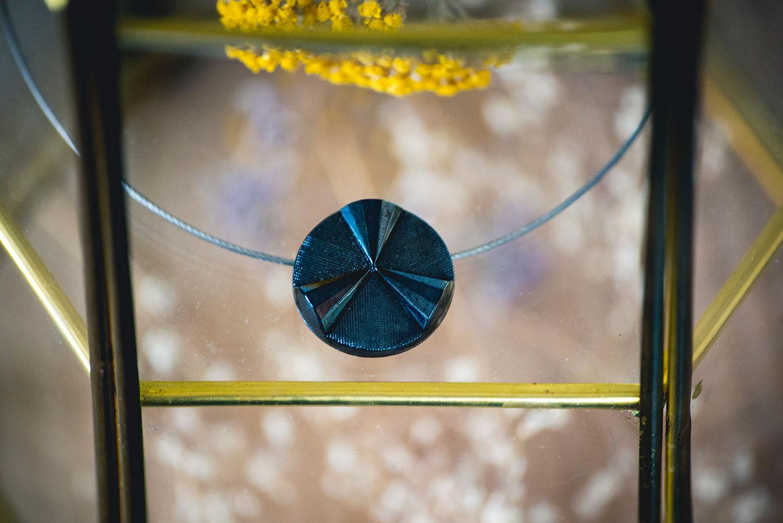 Assuna – Collier Solo vintage Angèle bleuté – inspiration vintage