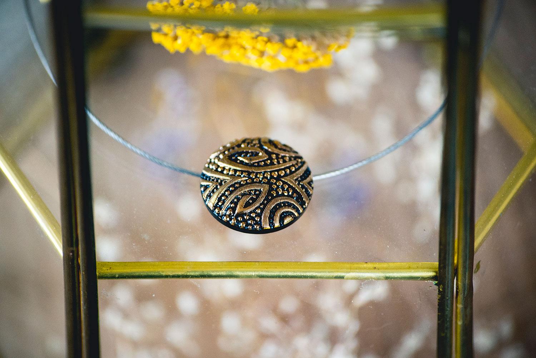 Assuna – Collier Solo vintage Garance doré – inspiration vintage