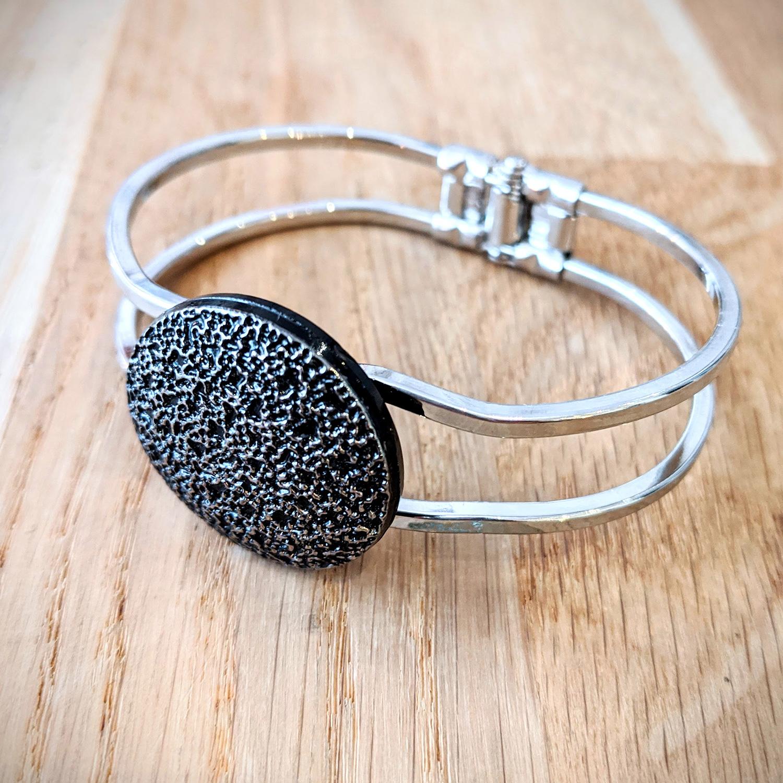 Bracelet vintage Esmée argenté – face