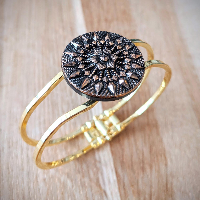 Bracelet vintage Inès doré – biais