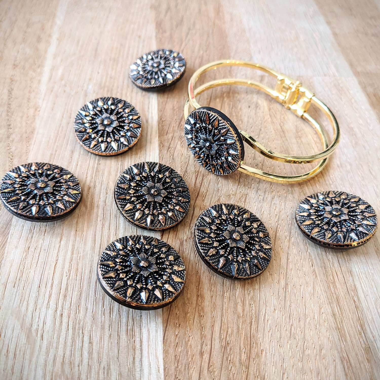 Bracelet vintage Inès doré – boutons