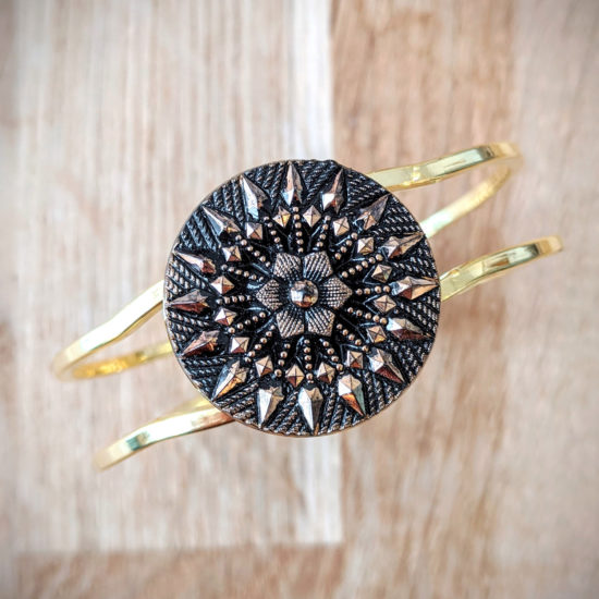 Bracelet vintage Inès doré - dessus