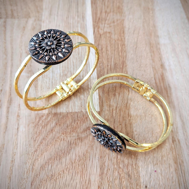 Bracelet vintage Inès doré – duo