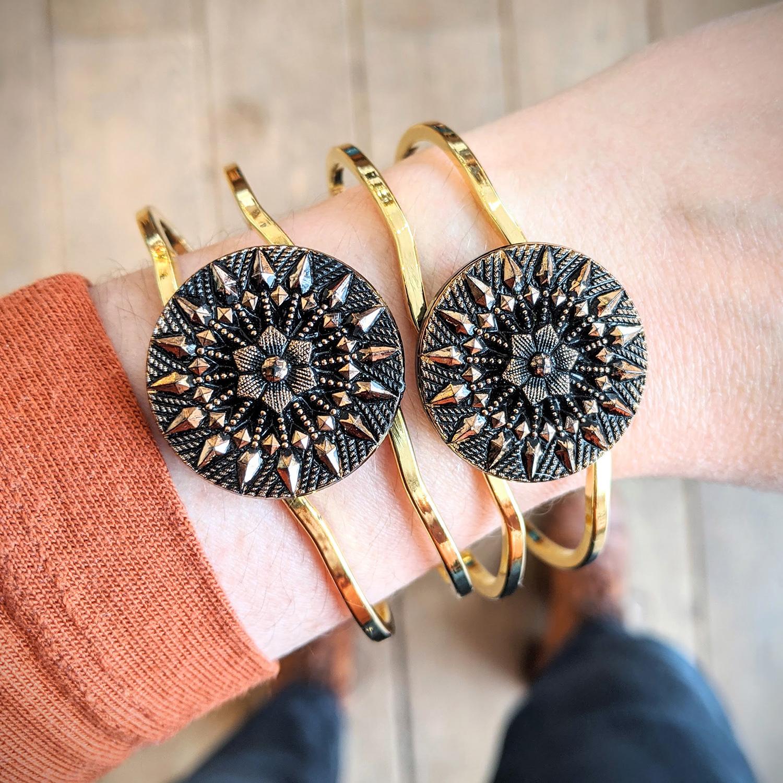 Bracelet vintage Inès doré – look