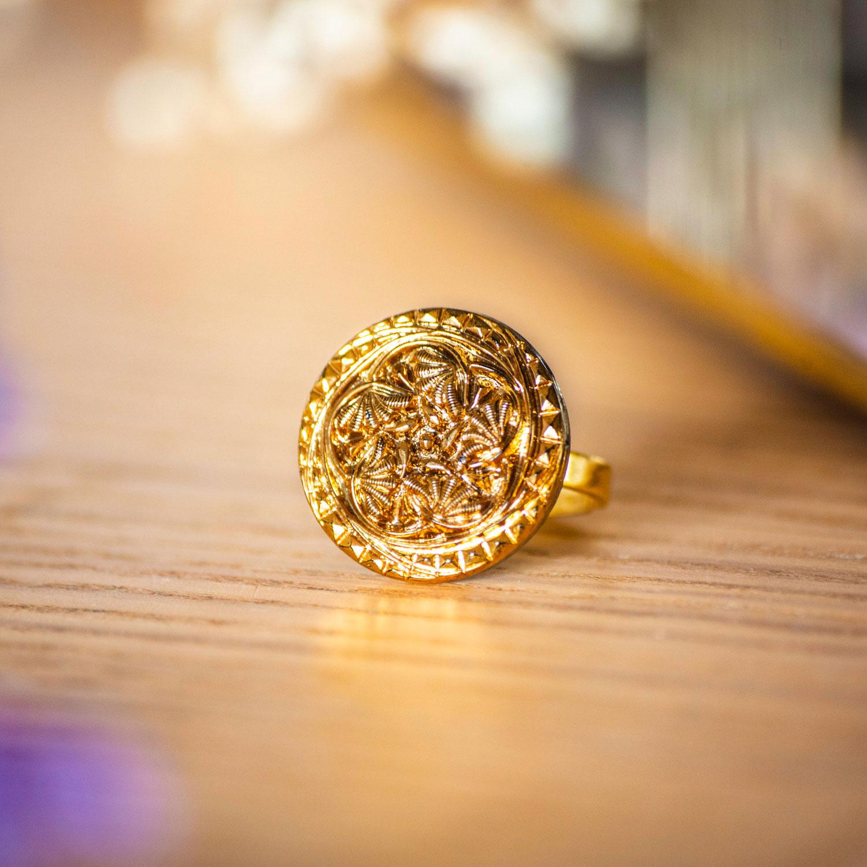 Assuna – Bague Flora – Bague bouton ancien d'inspiration vintage