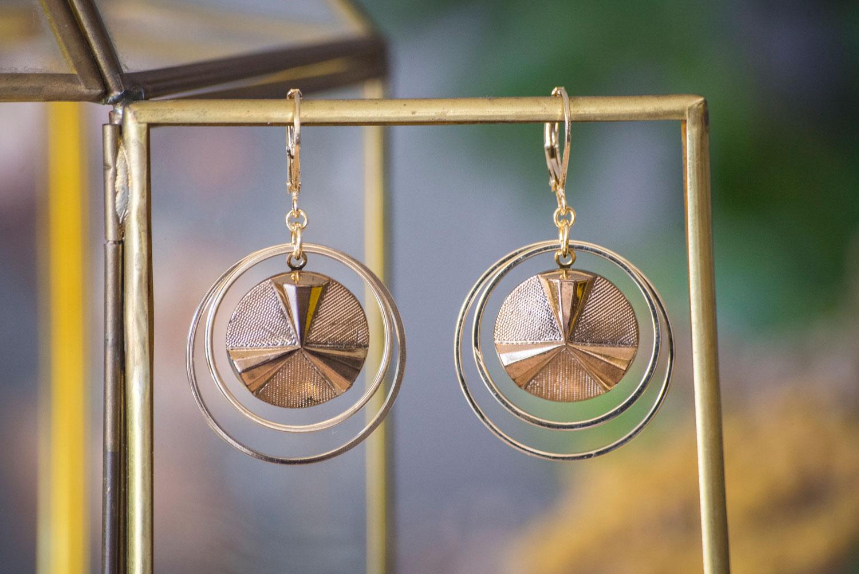 Assuna – Grandes boucles Lunare Angèle doré – inspiration vintage