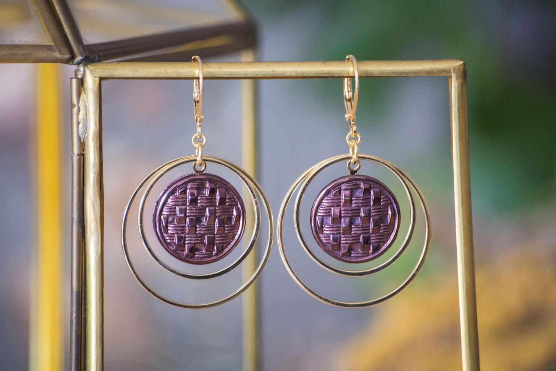 Assuna – Grandes boucles Lunare Cécile bronze- inspiration vintage