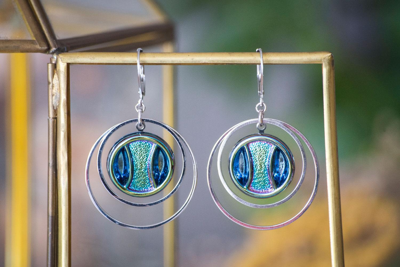Assuna – Grandes boucles Lunare Iris – inspiration vintage