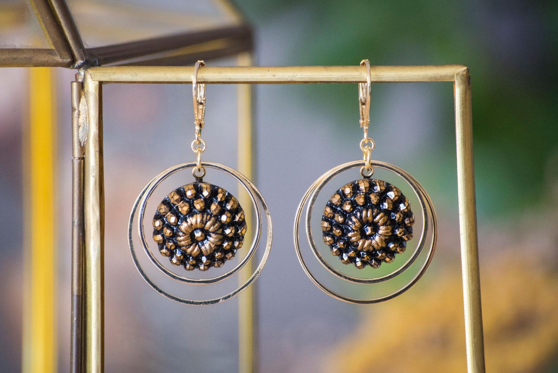 Assuna – Grandes boucles Lunare Marthe doré – inspiration vintage