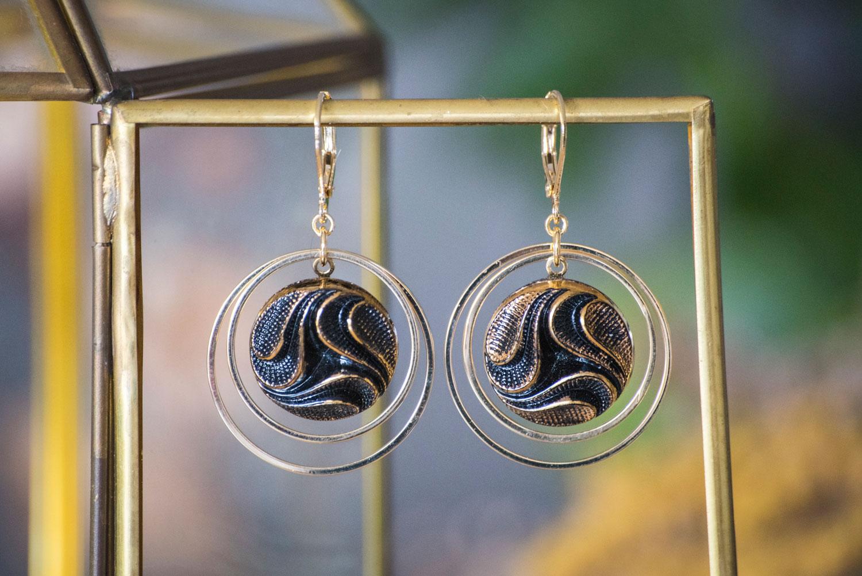 Assuna – Grandes boucles Lunare Siloé – inspiration vintage