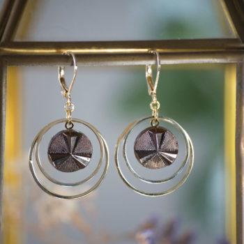 Petites boucles Lunare Angèle bronze