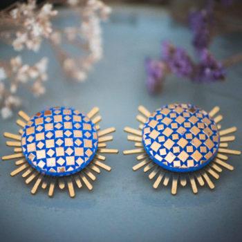 Boucles Solare Eugénie bleu