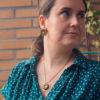 Assuna - Collier et boucles Solare Mathilde or - Collier et boucles d'oreilles bouton ancien sur estampe solaire
