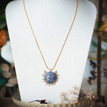 Collier Solare Eugénie bleu