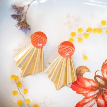 Boucles Comète Georgette orange
