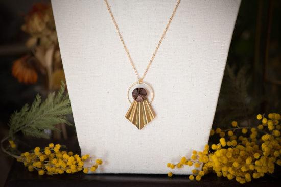 Assuna - Collier Comète Angèle bronze - Bijou d'inspiration vintage