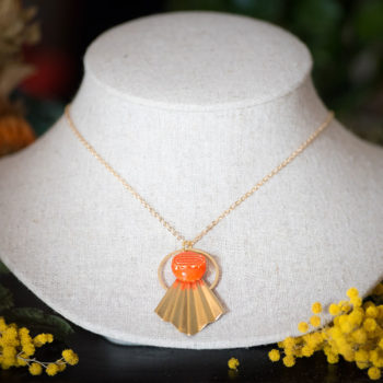 Collier Comète Georgette orange