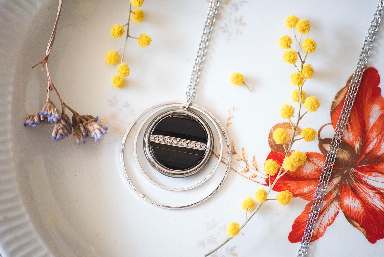 Assuna – Sautoir Lunare Constance argenté – inspiration vintage