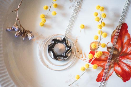 Assuna - Sautoir Lunare Marcelle argenté - inspiration vintage