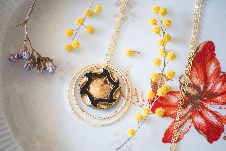 Assuna – Sautoir Lunare Marcelle doré – inspiration vintage